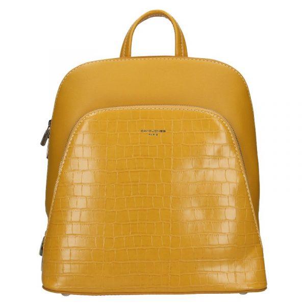 Módní dámský batoh David Jones Thala – žlutá