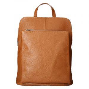 Kožený dámský batoh Unidax Marion – hnědá