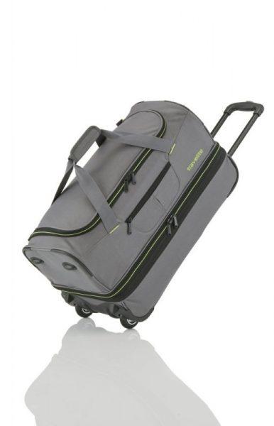 Travelite Basics 2w S rozšiřitelná cestovní taška 51/64 l Grey/Green