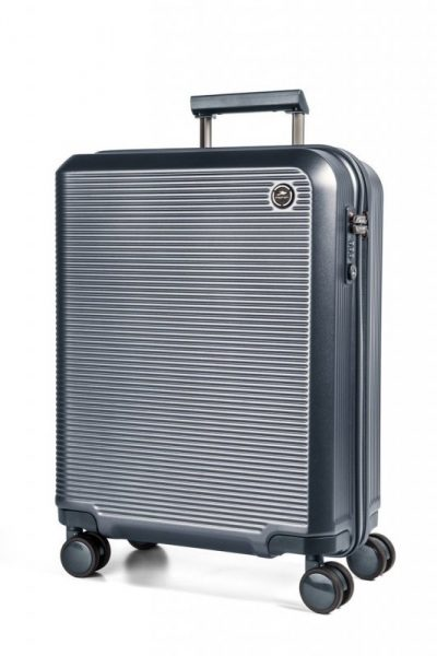 March Odessa L cestovní kufr PC TSA 77 cm 109 l Blue Grey