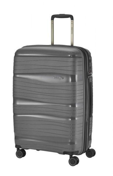 Travelite Motion M cestovní kufr PP TSA 67 cm 71/82 l Anthracite