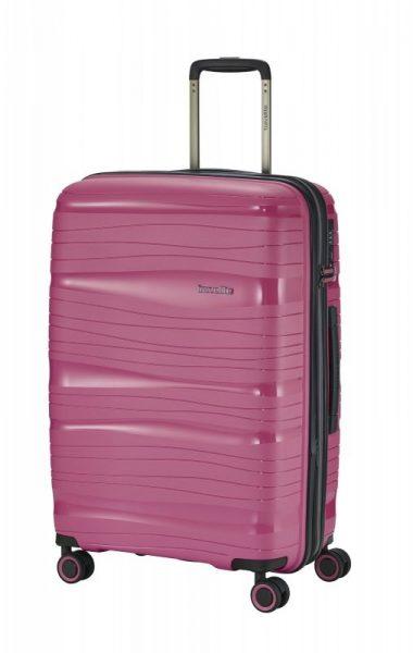 Travelite Motion M cestovní kufr PP TSA 67 cm 71/82 l Rose
