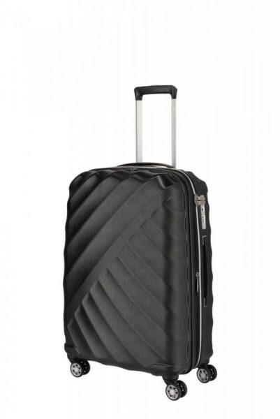 Titan Shooting Star 4w M cestovní kufr TSA 66 cm 70/81 l Black
