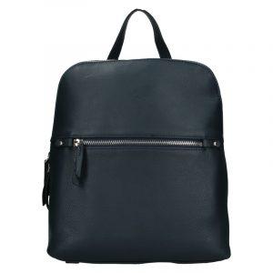 Dámský kožený batoh Katana Adléta – tmavě modrá
