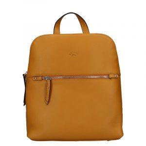 Dámský kožený batoh Katana Adléta – hořčicová