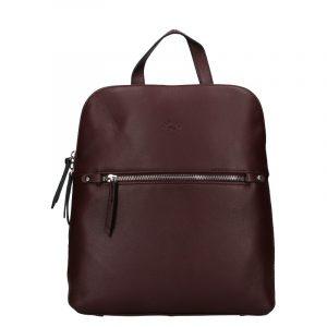 Dámský kožený batoh Katana Adléta – fialová
