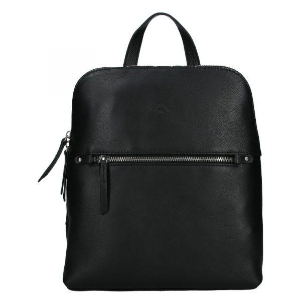 Dámský kožený batoh Katana Adléta – černá