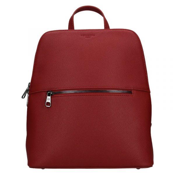Dámský batoh Hexagona Agate – tmavě červená