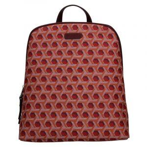 Trendy dámský batoh Hexagona Asia – tmavě červená