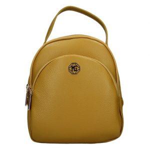 Dámský kožený batoh Marina Galanti Paole – žlutá