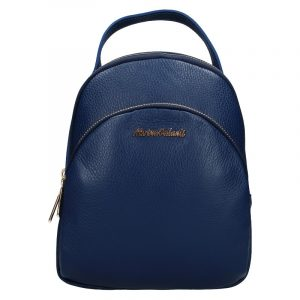 Dámský kožený batoh Marina Galanti Paole – modrá