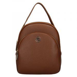 Dámský kožený batoh Marina Galanti Paole – hnědá
