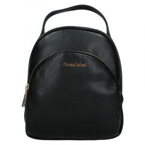 Dámský kožený batoh Marina Galanti Paole – černá