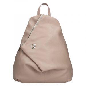 Dámský kožený batoh Marina Galanti Sofia – béžová