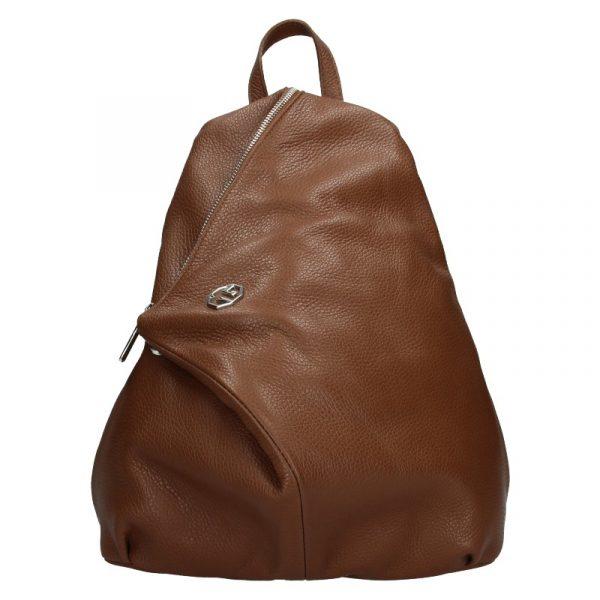 Dámský kožený batoh Marina Galanti Sofia – hnědá