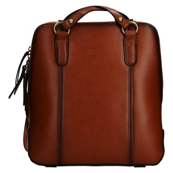 Dámská kožená batůžko kabelka Katana Martina – koňak
