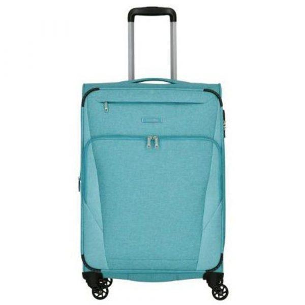 Travelite Cestovní kufr Jakku 4w M Turquoise 64/69 l