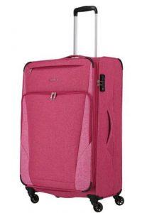 Travelite Velký cestovní kufr Jakku 4w L Red 90/97 l