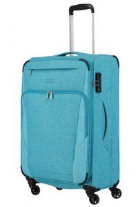 Travelite Velký cestovní kufr Jakku 4w L Turquoise 90/97 l