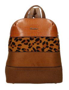 Hnědý dámský módní elegantní batůžek David Jones 6157-2