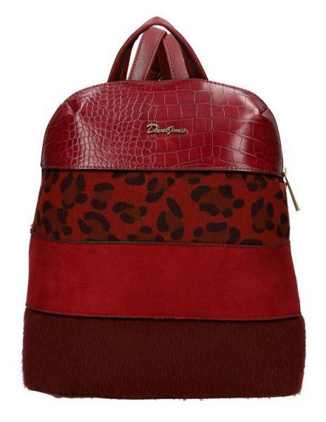 Bordový dámský módní elegantní batůžek David Jones 6157-2