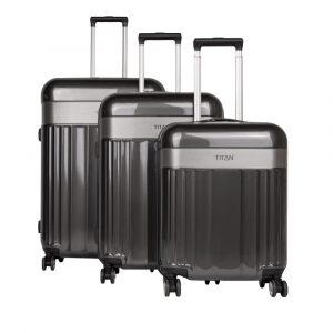 Titan Sada cestovních kufrů Spotlight Flash 4w S + M +L Anthracite