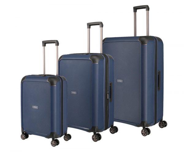 Titan Sada cestovních kufrů Compax 4w S + M + L Navy