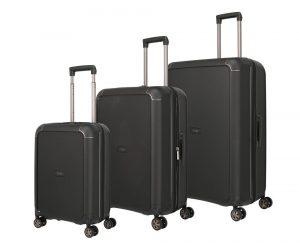 Titan Sada cestovních kufrů Compax 4w S + M + L Black