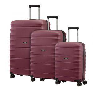 Titan Sada cestovních kufrů Highlight 4w S + M + L Merlot