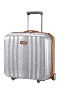 Samsonite Kabinový cestovní kufr Lite-Cube DLX Rolling Tote 82V 31,5 l – stříbrná