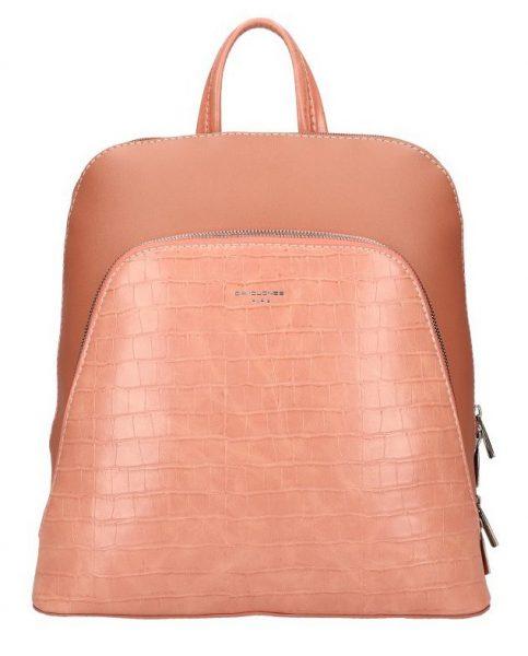 Růžový dámský módní batůžek David Jones CM5615