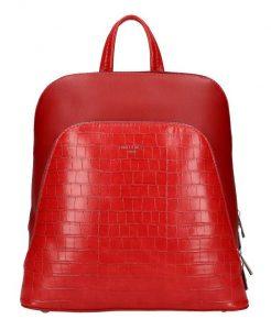 Červený dámský módní batůžek David Jones CM5615