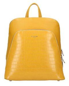 Žlutý dámský módní batůžek David Jones CM5615