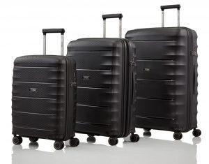 Titan Sada cestovních kufrů Highlight 4w S + M + L Black