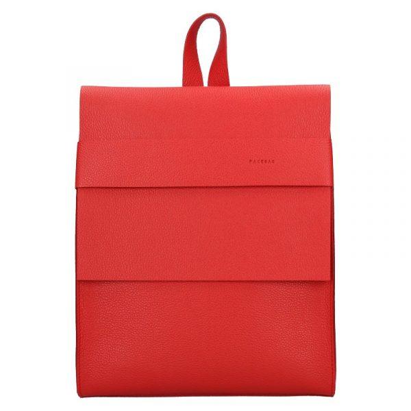 Dámský kožený batoh Facebag Apolens – červená