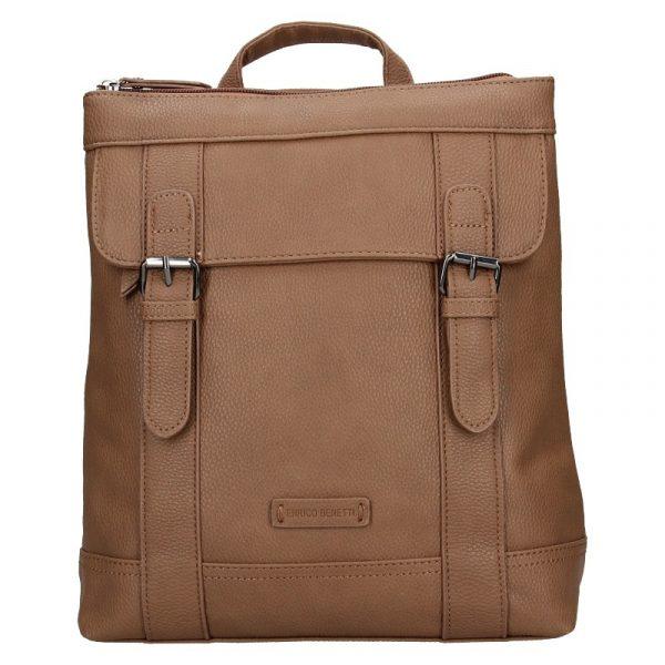Moderní dámský batoh Enrico Benetti Martinas – hnědá