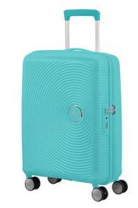 American Tourister Kabinový cestovní kufr Soundbox Spinner EXP 32G 35,5/41 l – modrá