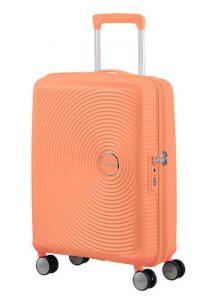 American Tourister Kabinový cestovní kufr Soundbox Spinner EXP 32G 35,5/41 l – světle oranžová