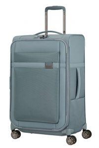 Samsonite Látkový cestovní kufr Airea 67 cm 73,5/81,5 l – světle modrá