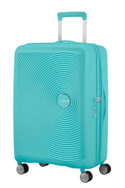 American Tourister Cestovní kufr Soundbox Spinner EXP 32G 97/110 l – modrá