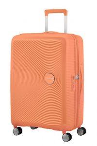 American Tourister Cestovní kufr Soundbox Spinner EXP 32G 97/110 l – světle oranžová