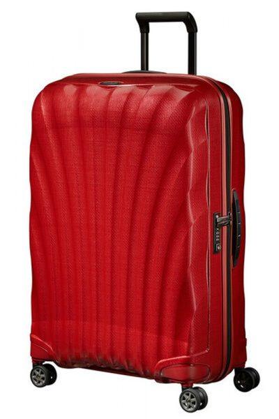 Samsonite Skořepinový cestovní kufr C-lite Spinner 94 l – červená