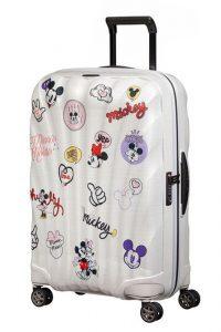 Samsonite Skořepinový cestovní kufr C-lite Disney Spinner 68 l – bílá
