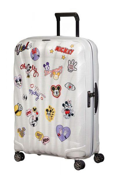 Samsonite Skořepinový cestovní kufr C-lite Disney Spinner 94 l – bílá