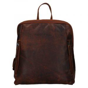 Kožený batoh Greenwood Liam – tmavě hnědá