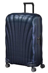Samsonite Skořepinový cestovní kufr C-lite Spinner 94 l – modrá