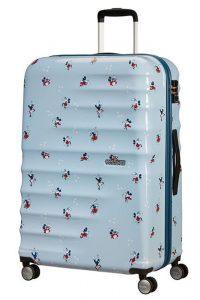 American Tourister Cestovní kufr Wavebreaker Disney Spinner 31C 96 l – Minnie Darling Blue