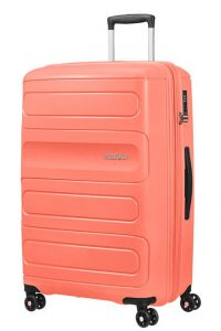 American Tourister Cestovní kufr Sunside 51G EXP 106/118 l – světle oranžová