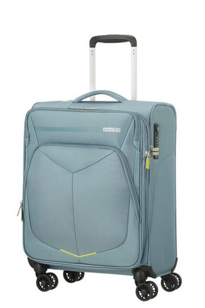 American Tourister Kabinový cestovní kufr Summerfunk Spinner 55/20 EXP TSA – světle šedá