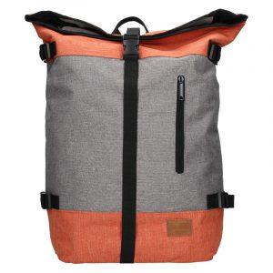 Velký trendy batoh New Rebels Marco – šedo-oranžová